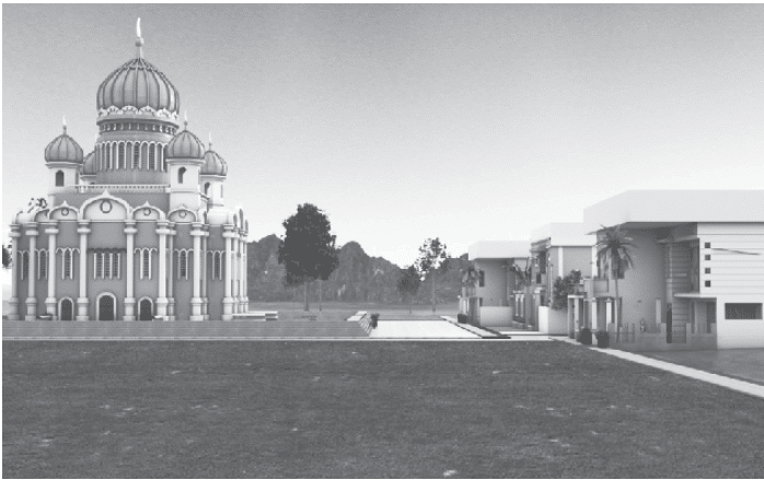 home in front of masjid