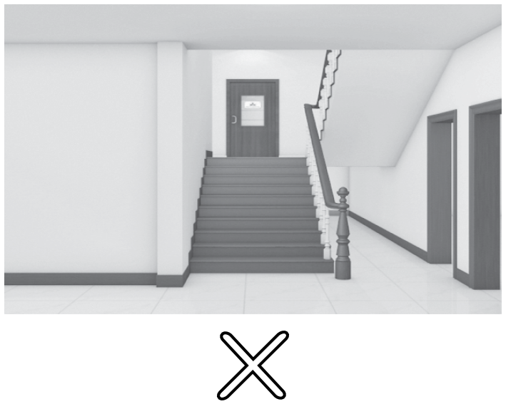 Staircase in Front of the Main Door or Next to It