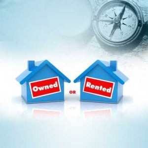 own or rented house